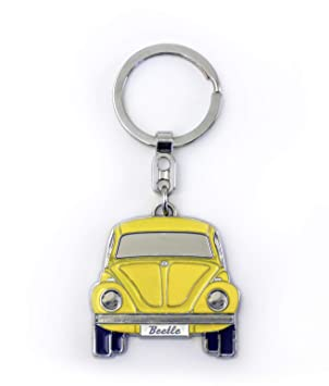 Brisa VW Collection VW Escarabajo Llavero en Caja de Regalo - Amarillo