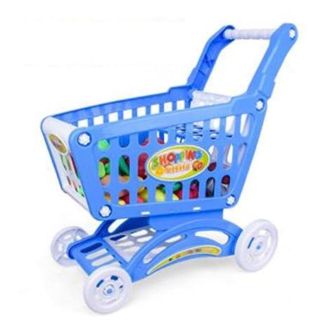Supermercado Grande para niños Carrito de Compras Juguetes - Azul