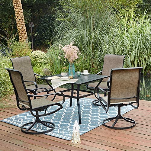 VICLLAX Outdoor Patio 5 Pcs Dining Set Chair Table Set Clearance