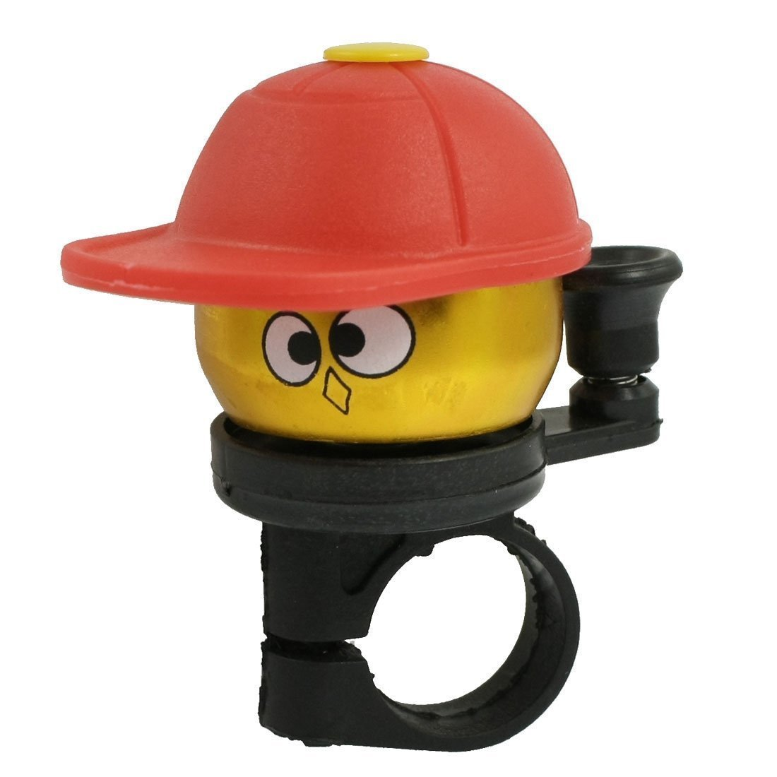 SODIAL(R) Gold Tone Red Hatted Cartoon Boy Design Alloy Housing Bike Bicycle Bell Ring