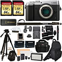Panasonic DMC-GX8SBODY LUMIX GX8 Interchangeable Lens DSLM Camera Body Only + 2 Transcend 64 GB High Speed Class 10 + LED Kit + Polaroid Tripod + Monopod + 2 Spare Batteries + Charger + 2 Bags + More Explained Review Image