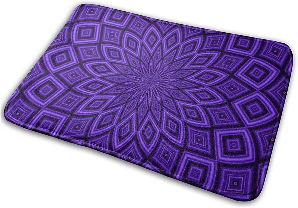 DaiMex Paquete de 2 Alfombrillas para baño, diseño Abstracto púrpura, alfombras Extra Suaves y absorbentes, Alfombrillas para baño