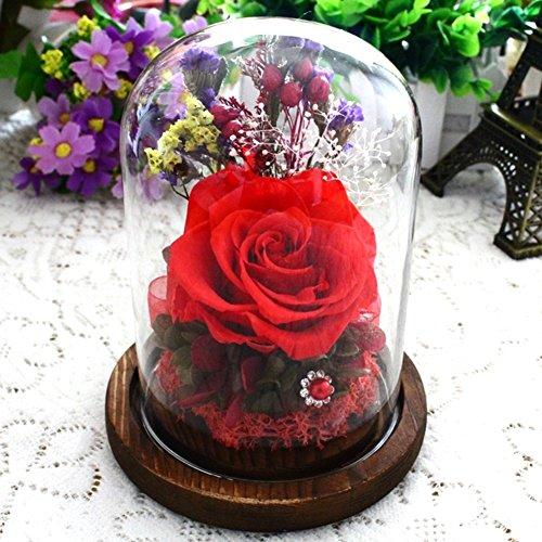 Eternal Flower Gift Box Fresh Rose Carnation Dried Ornaments Birthday D