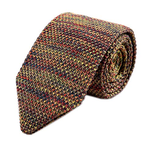 Secdtie Mens Casual Colorful Woven Neck Tie Knit Formal Party New Necktie ,color:13,One Size