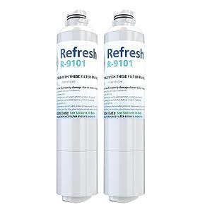 Refresh Replacement for Samsung DA29-00020A, DA29-00020B, HAF-CIN/EXP, 46-9101 Refrigerator Water Filter (2 Pack)