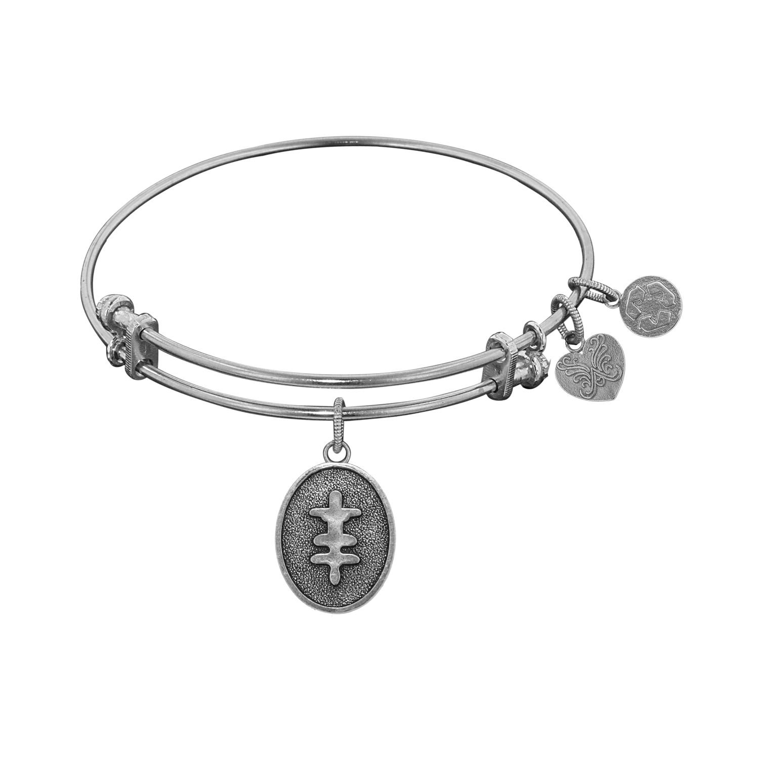 WGEL1131 Angelica Ladies Inspirational Collection Bangle Charm 7.25 Inches Adjustable