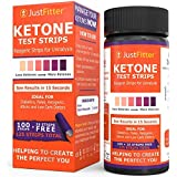 Keton Test Strips. Testing Levels of Ketones Suitable for Diabetics, Low Carb, Fat Burning Dieters. (Ketones 125 (100 + 25 free), 1 BOTTLE)