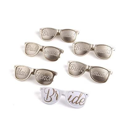 b0ceb5aeb12 Image Unavailable. Image not available for. Color  Bridal Bachelorette Party  Favors Brides Maid Wedding softer Light GOLD Sunglasses