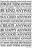 CANVAS Mother Teresa Quote 24x36 Gallery Wrap Art Wall Decor. motivational Typography