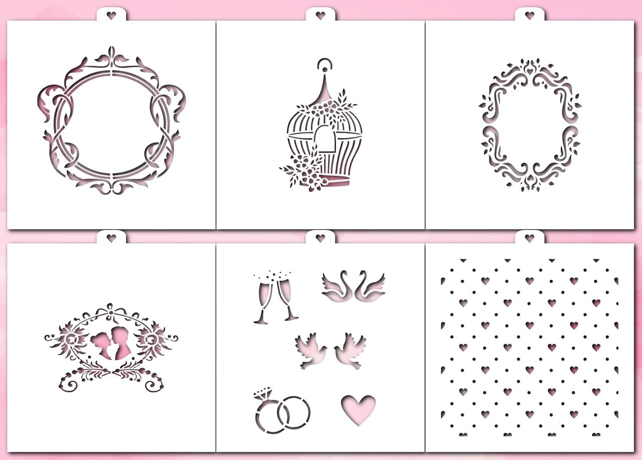 6 pcs Love Cookie and Craft Stencil Set 14 February