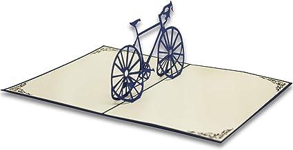 abbastanza Biglietto di Auguri con Origami, La Bicicletta: Amazon.it TS65