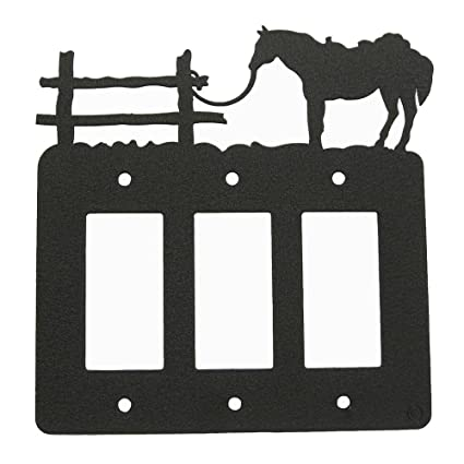 Tethered horse triple rockergfi light switch plate cover amazon tethered horse triple rockergfi light switch plate cover publicscrutiny Images