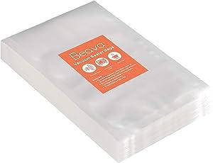 Vacuum Sealer Bags 9x12 Inch, Beava 100pcs Precut Embossed Vacuum Sealer Freezer Bags Heavy Duty Commercial Grade Food Saver Bags for Seal a Meal, Sous Vide or Meal Prep