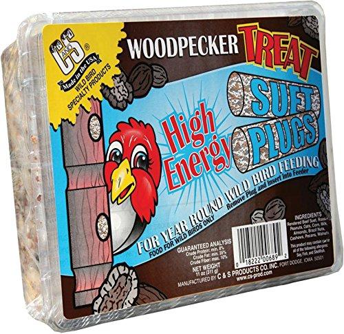 C&S 12689 Woodpecker Treat High Energy Suet, 11-Ounce ()