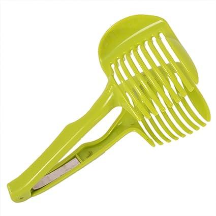 Cortador de verduras de mano creativo para frutas y hortalizas verde