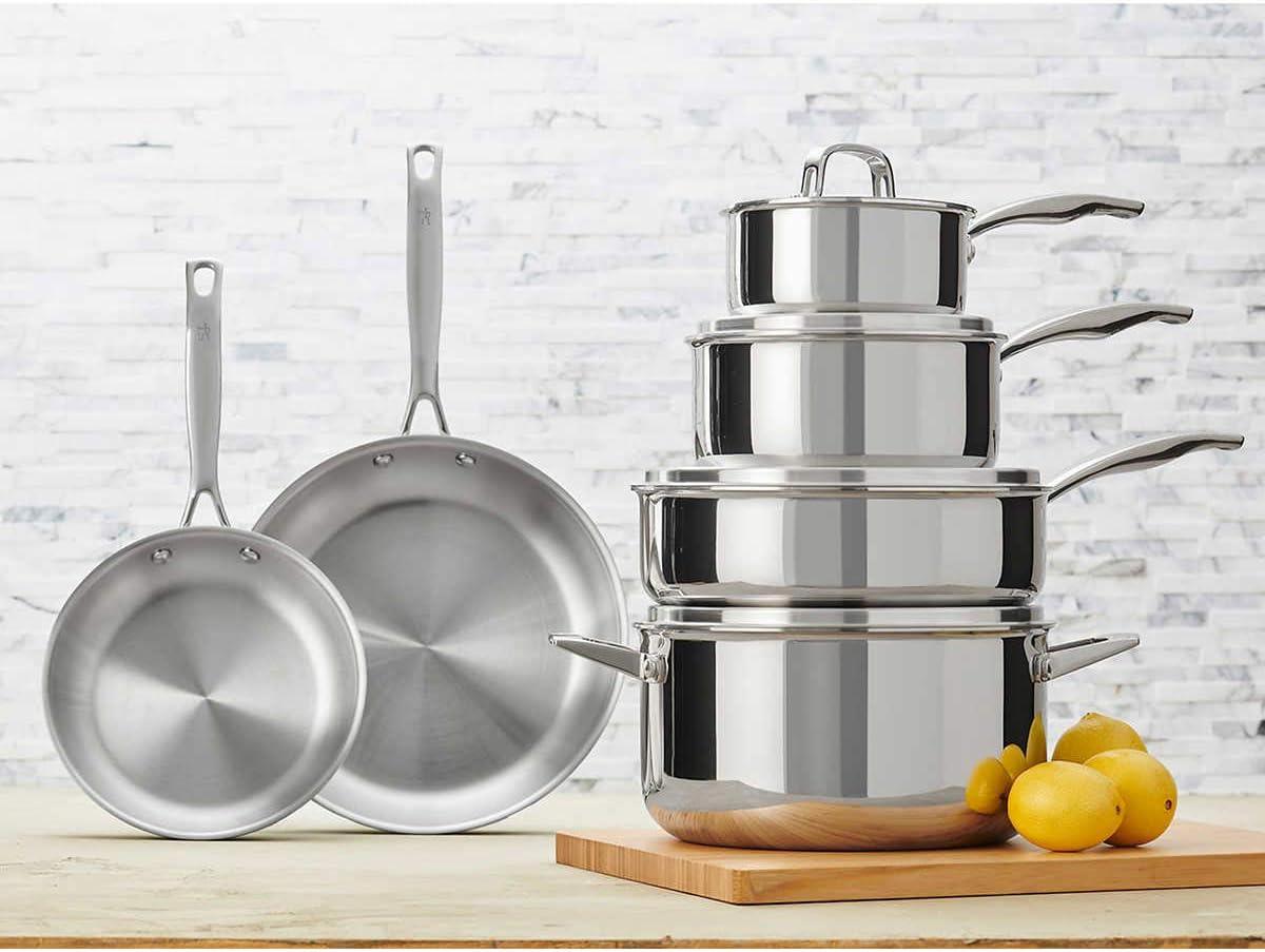 JA Henckels International 10-piece Tri-ply Stainless Steel Cookware Set