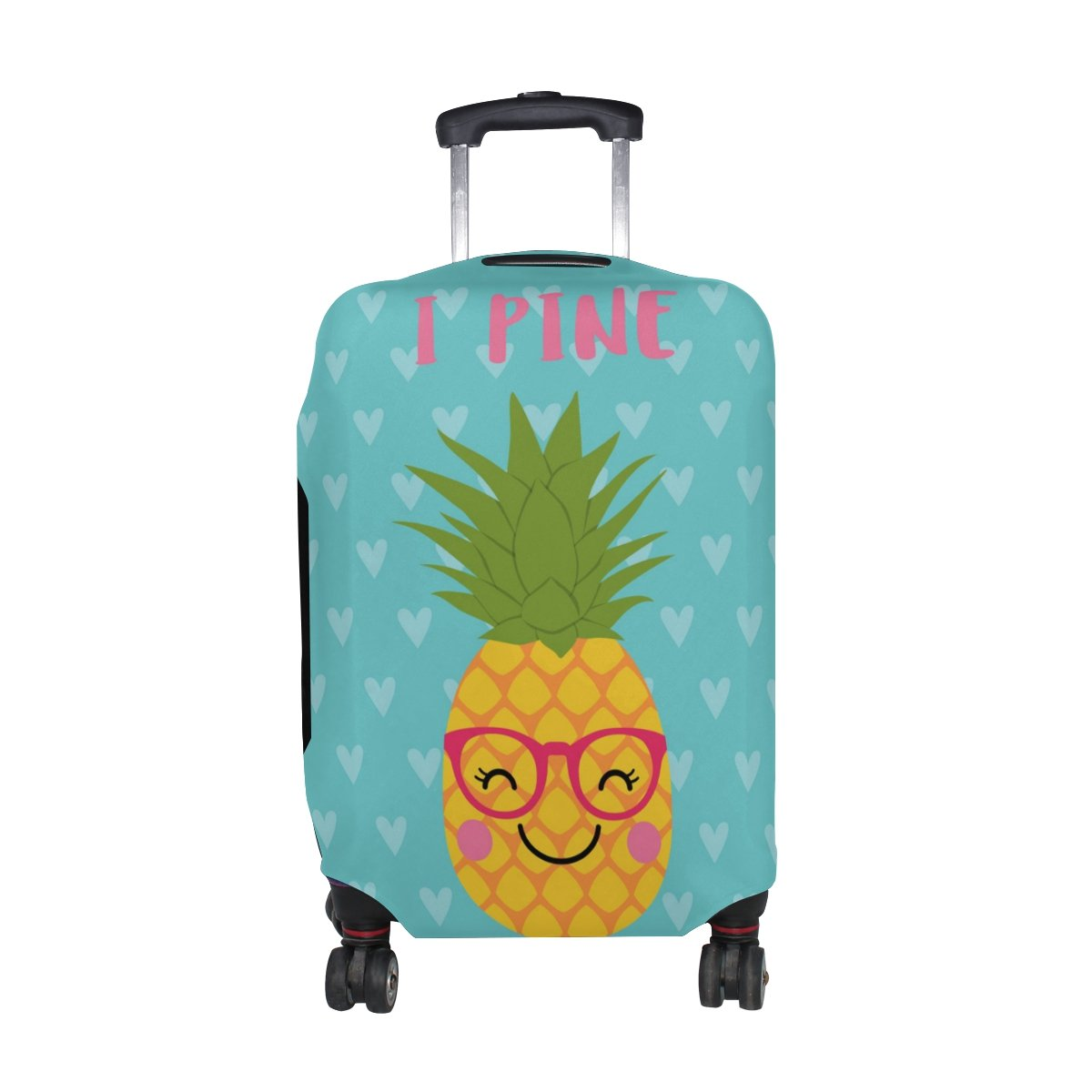U LIFE Vintage Tropical Plants Love Heart Luggage Suitcase Cover Protector