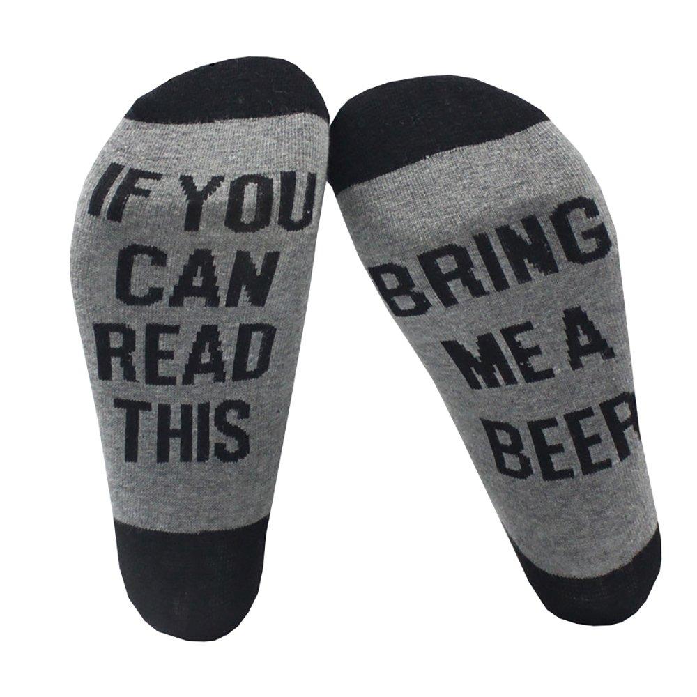 Fuzzy Socks L&ZZ Unisex Funny Saying Knitting Word Combed Cotton Crew Coffee Socks for Men Women