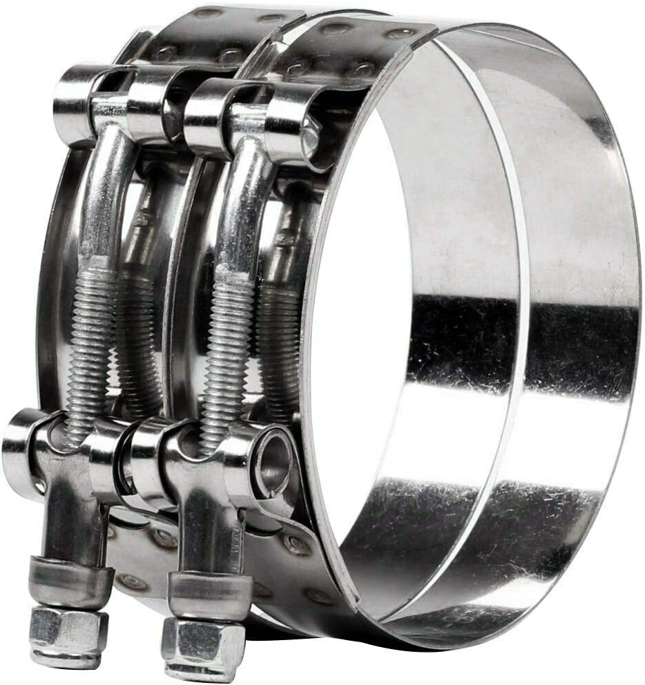 EASYBERG 10PCS Stainless Steel T-Bolt Clamps Turbo Intake Intercooler Clamp for 1inch Hose 10 Pcs, 32-37mm