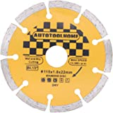 "AUTOTOOLHOME 4.5"" Diamond Angle Grinder Grinding Stone Brick Concrete Ceramic Tiles Dry Cutting Disc Wheel Saw"