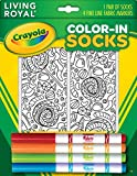 Kid's Crayola Color-In Socks - Includes 1 Pair Of Socks And 4 Fabric Markers - Candy Design