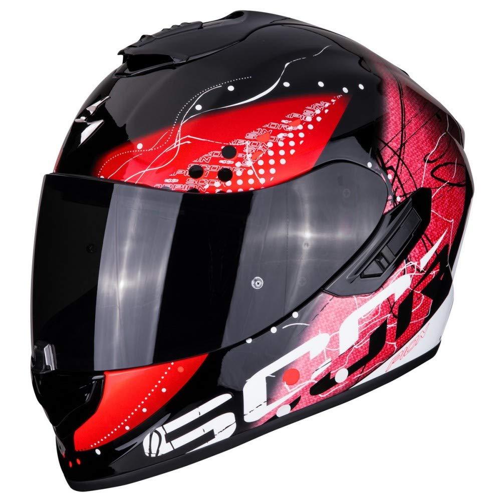 protecci/ón exterior TCT M Scorpion EXO-1400 classy Casco integral de fibra de carbono para moto con visera interior SpeedView solar retr/áctil