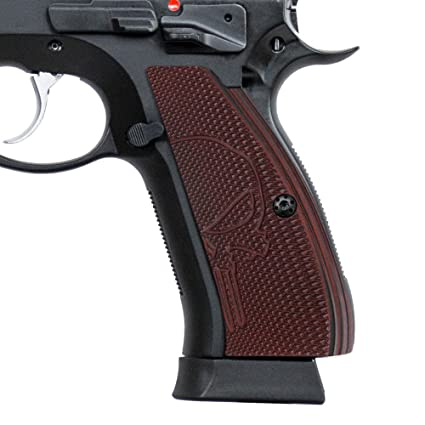 Cool Hand G10 Grips for CZ 75 Full Size, Shadow 2 SP-01 Series 75B BD, Free  Screws Included, Punisher Skull Texture