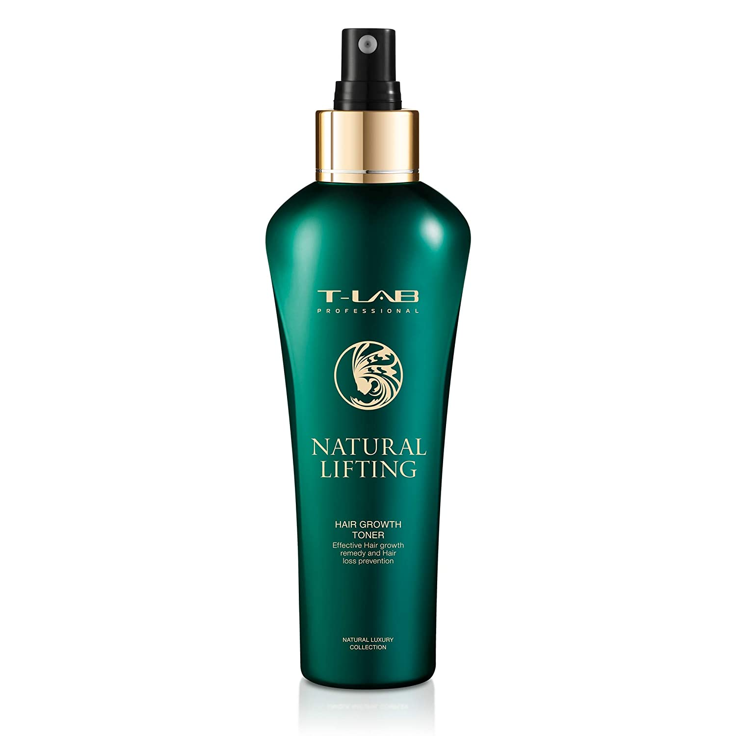 T-LAB PROFESSIONAL Natural Lifting Hair Growth Toner for Hair Growth, Hair Thickening Spray for Fine and Thin Hair, Hair Strengthening Treatment, Root Booster Spray for Hair 5.07 Fl Oz