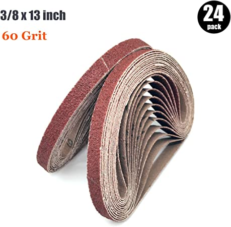 10 Pack 3//4 X 20 1//2 Inch 60 Grit Aluminum Oxide Air File Sanding Belts