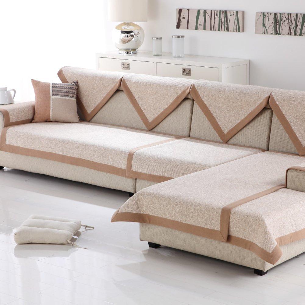 Sofa cushions,Sofa towel Cotton sofa towel Anti-skidding Chunky [breathable]-F 90x260cm(35x102inch)