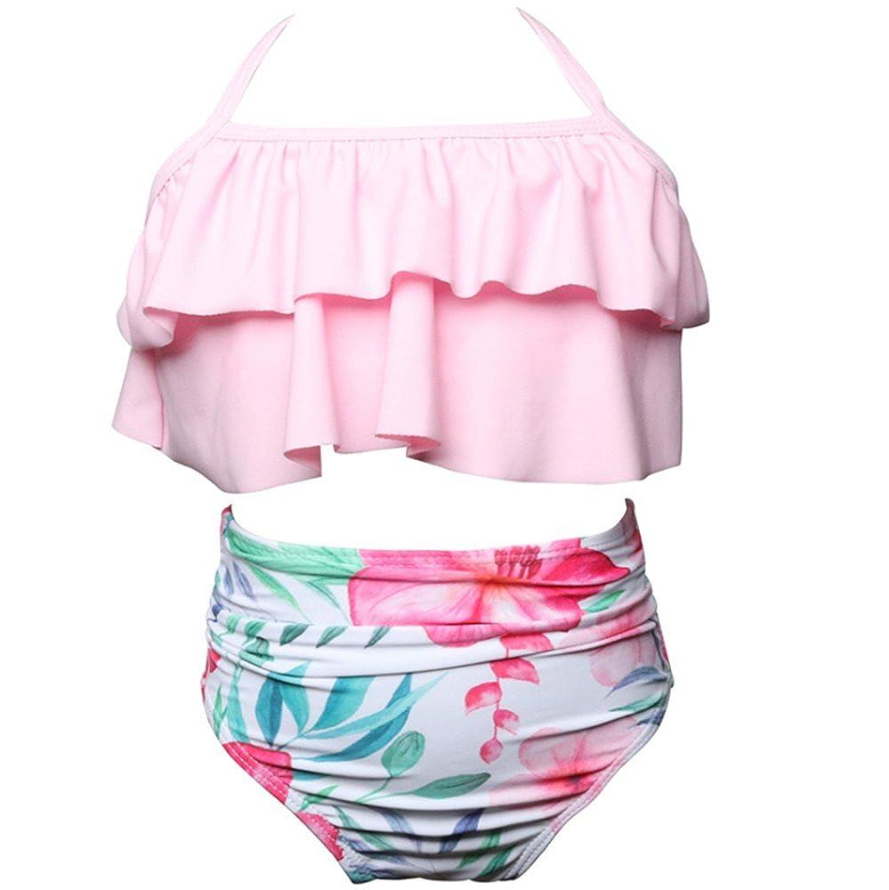 70d9ccc1d Mamá e Hija Tankini 2 Piezas Bikini Set Niñas Vestidos Bañadores Mujeres  Bikini Beachwear Trajes de baño  Amazon.es  Ropa y accesorios