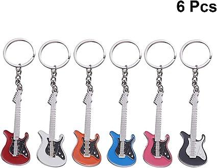 Toyandona - 6 llaveros de guitarra para colgar en el coche, diseño ...