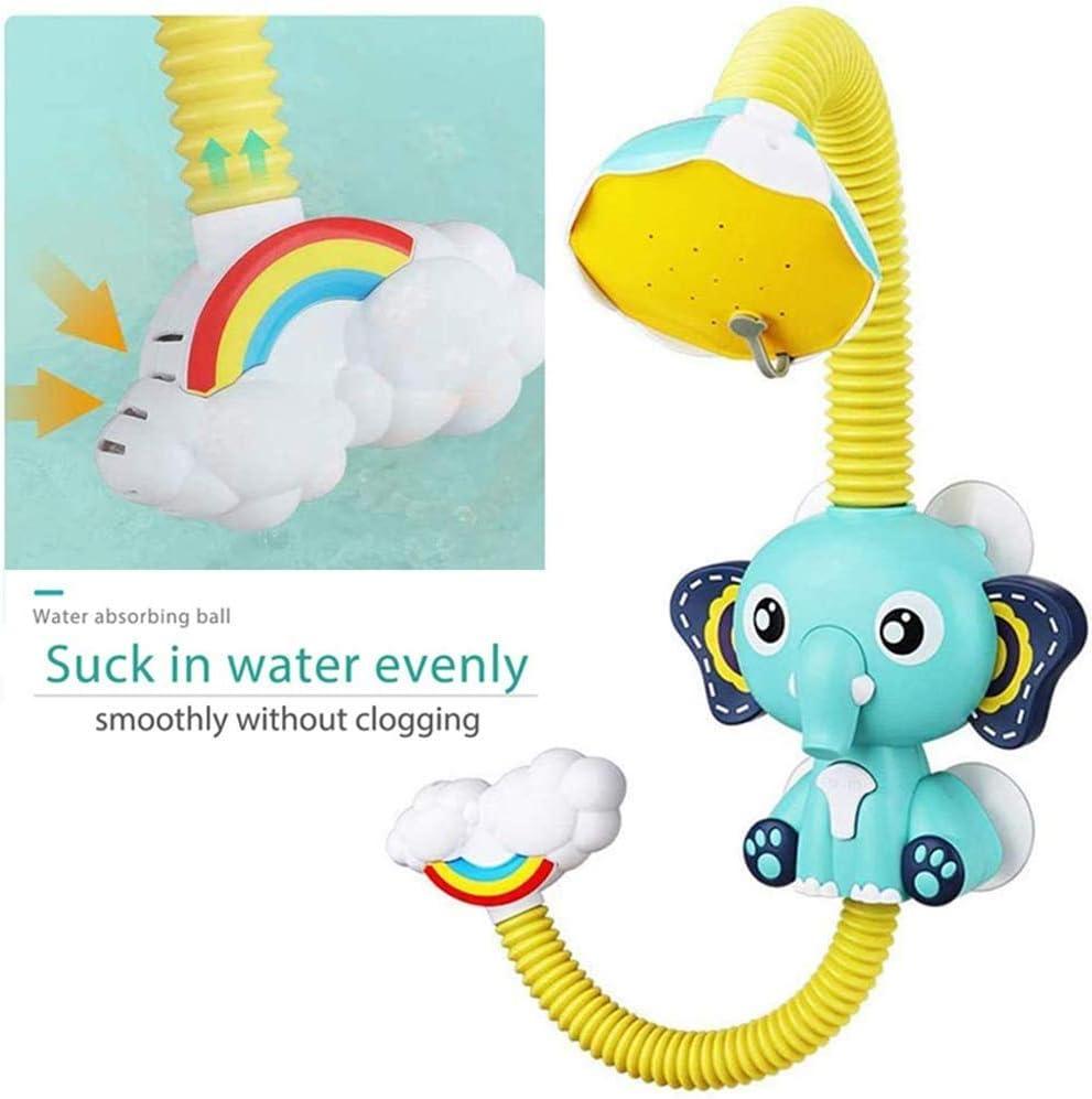 SUNWUKING Baby Bath Toys Electric Elephant Animal Sucker Electric Shower Rain Head Children Bathing Time Game Toy