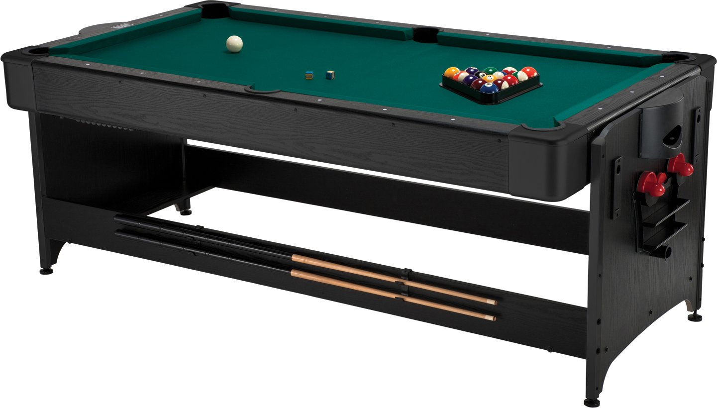 The Fat Cat Pockey 7ft Black 3-in-1 Mini Pool Table