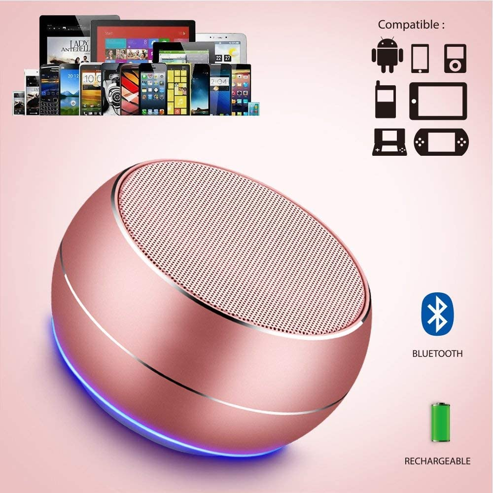 NUBWO Portable Bluetooth Speaker with HD Audio and Enhanced Bass iPad Grey BlackBerry Built-in Speakerphone for iPhone Samsung and More