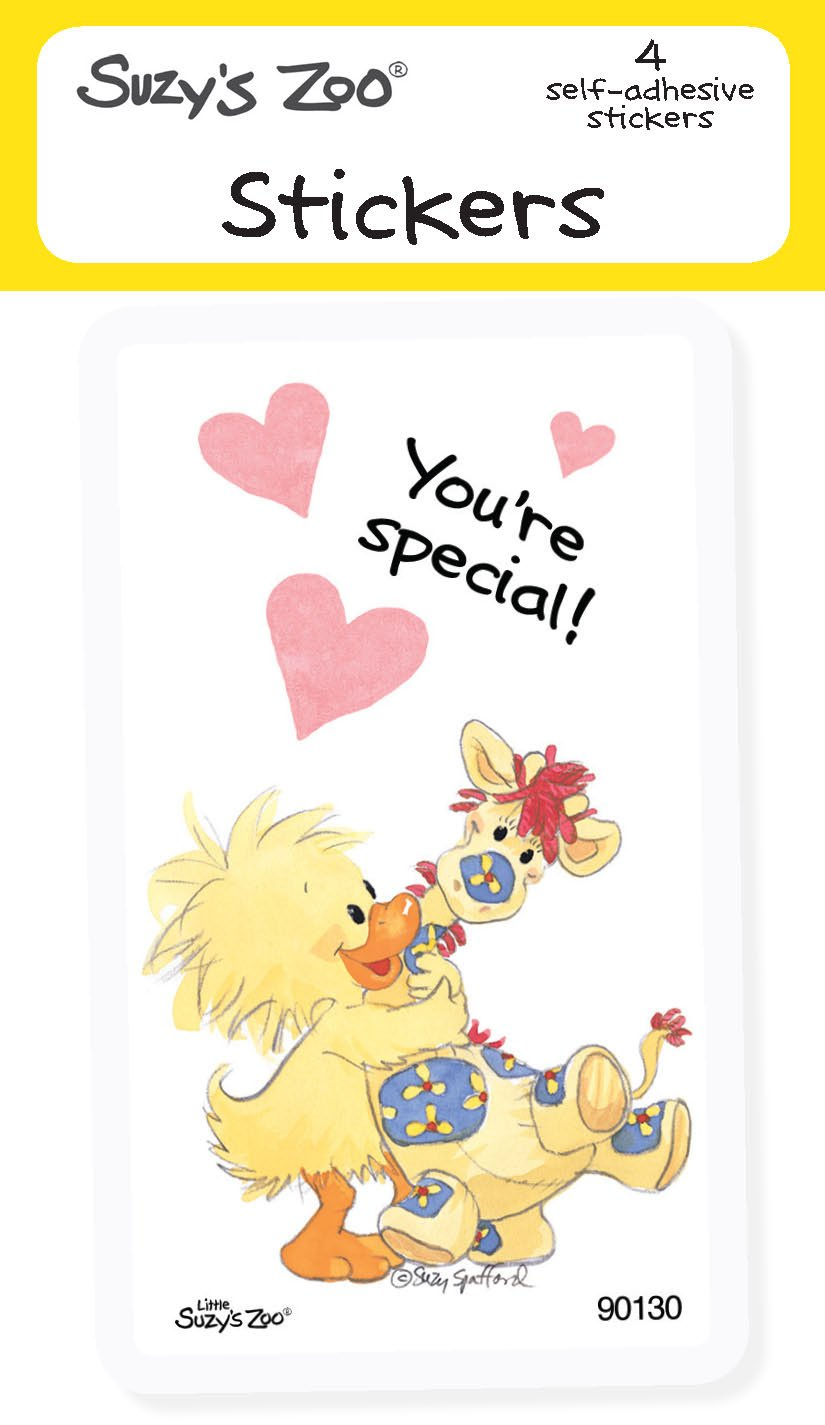 """Suzy's Zoo Stickers 4-pack, """"You're Special"""" 10125"""