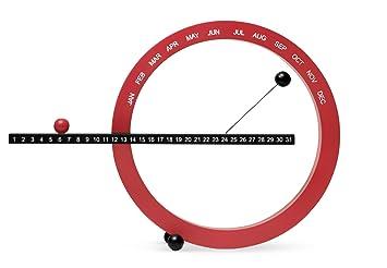 Amazon.com : MoMA Small Perpetual Calendar - Red/Black : Wall ...