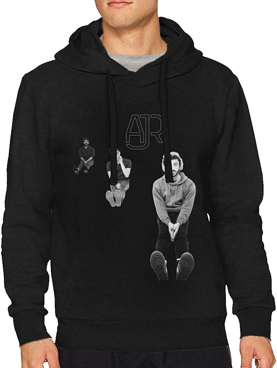 RobertAGonzalez AJR Mens Sports Athletic Running Pullover Outdoor Hoodie Long Sleeve Sweatshirt