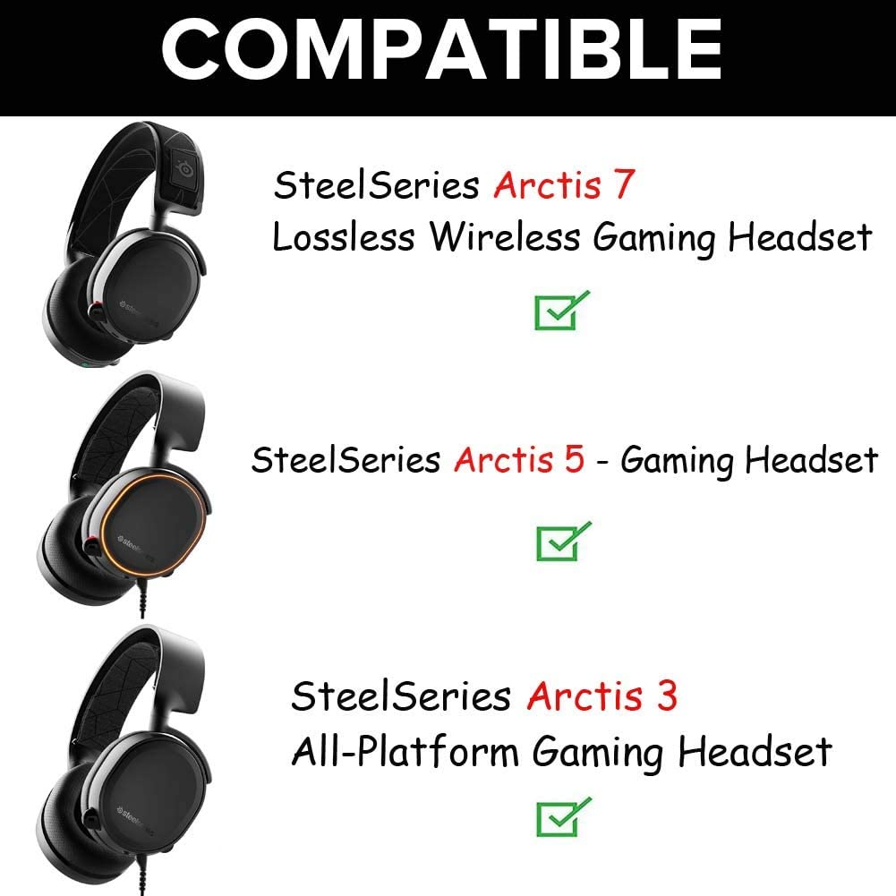 Amazon Com Arctis 7 Earpads Replacement Ear Pads Cushions Muffs Repair Parts Compatible With Steelseries Arctis 3 5 7 Gaming Headset Headphone Home Audio Theater
