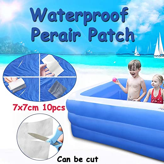 Amazon Com Repair Patches For Inflatable Swimming Pool Bounce House Puncture Repair Wet Adhesive Plastic Repair Patch Tenacious Tape Flex Patches For Hot Tub Pool Leak Seal Home Kitchen