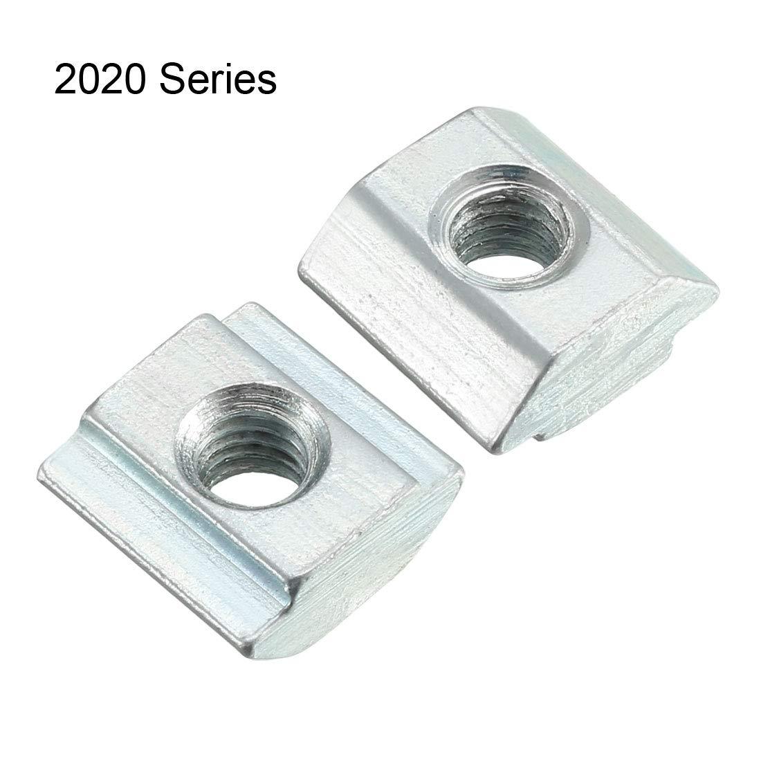 TOOGOO R 10Pcs 80//20 Inc T-Slot Hardware 40 Series M8 Slide In T-Nut T-Nut