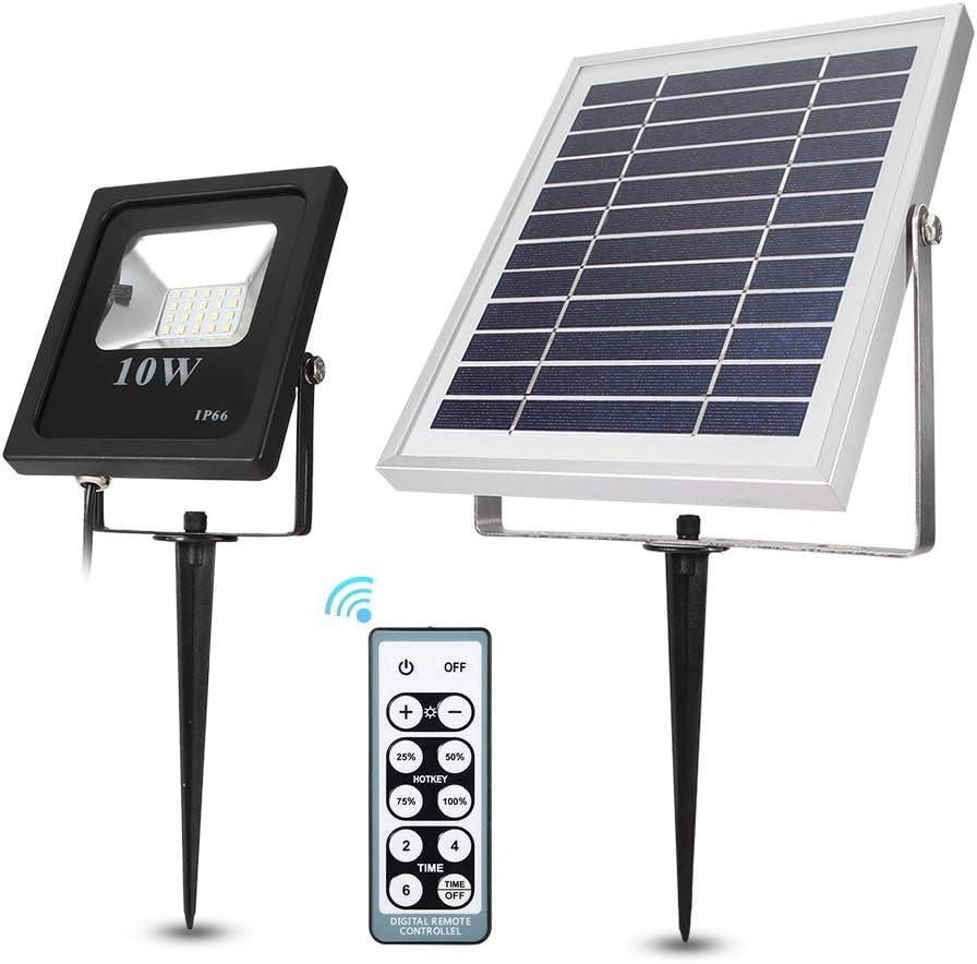 IP66 LED Solar Panel Motion Sensor Flood Light Lamp Outdoor Garden Spotlight