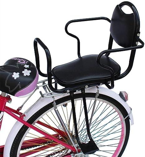 Ljdgr Accesorios para Bicicletas Bicicleta de Seguridad para niños Asiento Trasero con manija y Pedal para Bicicleta y Bicicleta eléctrica, apoyabrazos y Pedal para cercas, Negro: Amazon.es: Deportes y aire libre