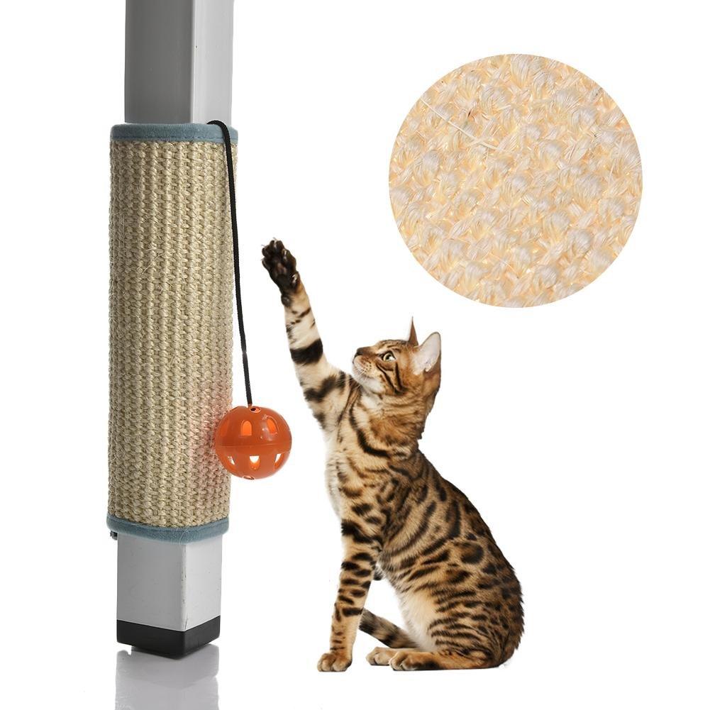 Mlec tech Tapis Griffoir pour Chat avec Pôle Chat Planche à Gratter Chat Griffoirs Tapis en Sisal pour Protection de Canapé et Poteau de Meuble