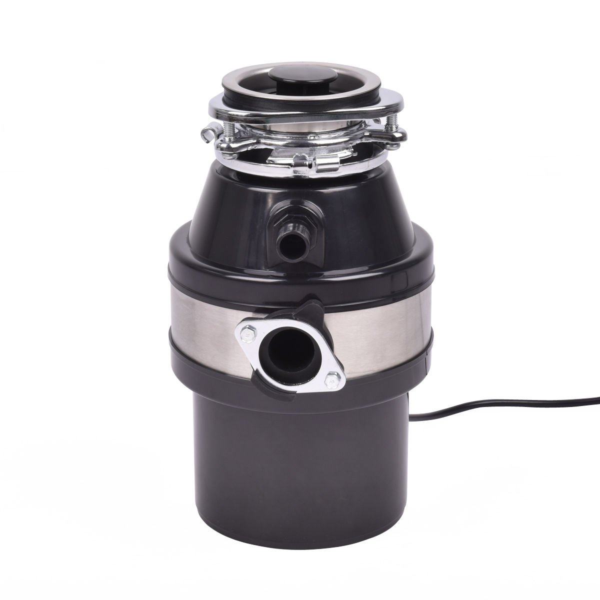 1.0HP 2600RPM Garbage Disposal Continuous Feed Home Kitchen Food Waste Disposer