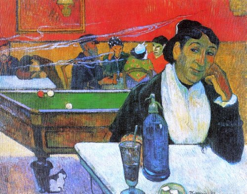 Gauguin Night Cafe - Paul Gauguin A Night Cafe in Arles (Madame Ginoux) - 20.05