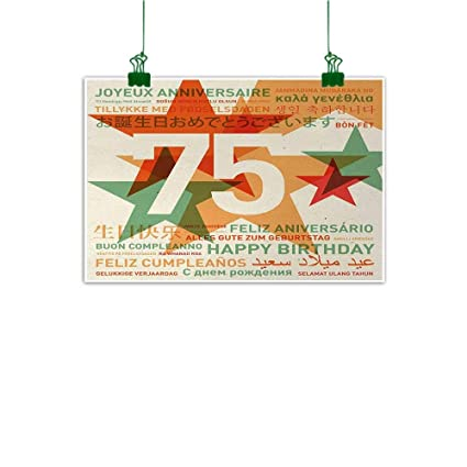 Amazon.com: Unpremoon 75th Birthday Mural Worldwide ...