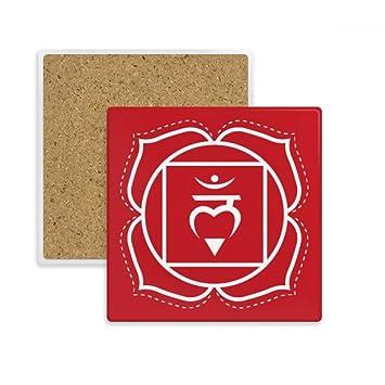 Diythinker Hum Buddhismus Sanskrit Brief Muster Quadrat Coaster