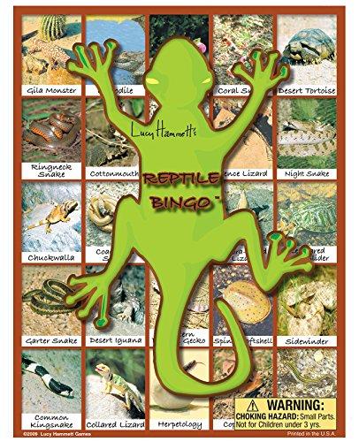 Lucy Hammett Games Reptile Bingo Game