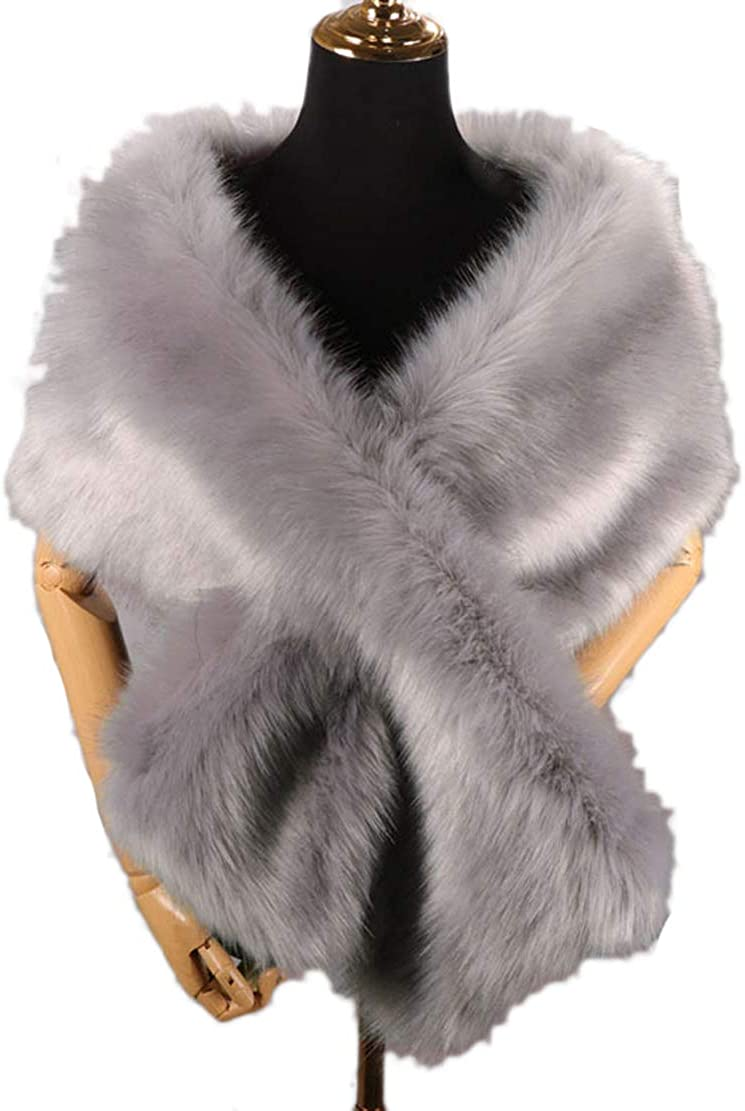 Eliffete Faux Fox Fur Shawl...
